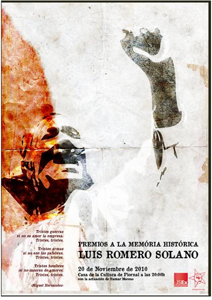 """Cartel de la séptima edición de los premios a la memoria histórica """"Luis Romero Solano"""""""