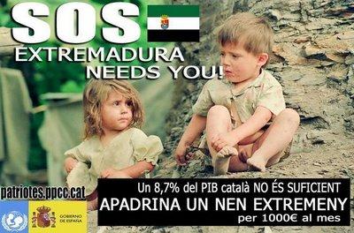 apadrina a un niño extremeño, lamentable campaña de Luis Suñé
