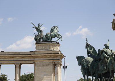 Budapest - Plaza de los Heroes012